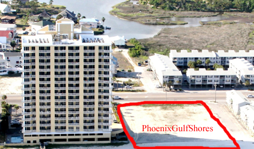 Phoenix Gulf Shores - Outlined construction site